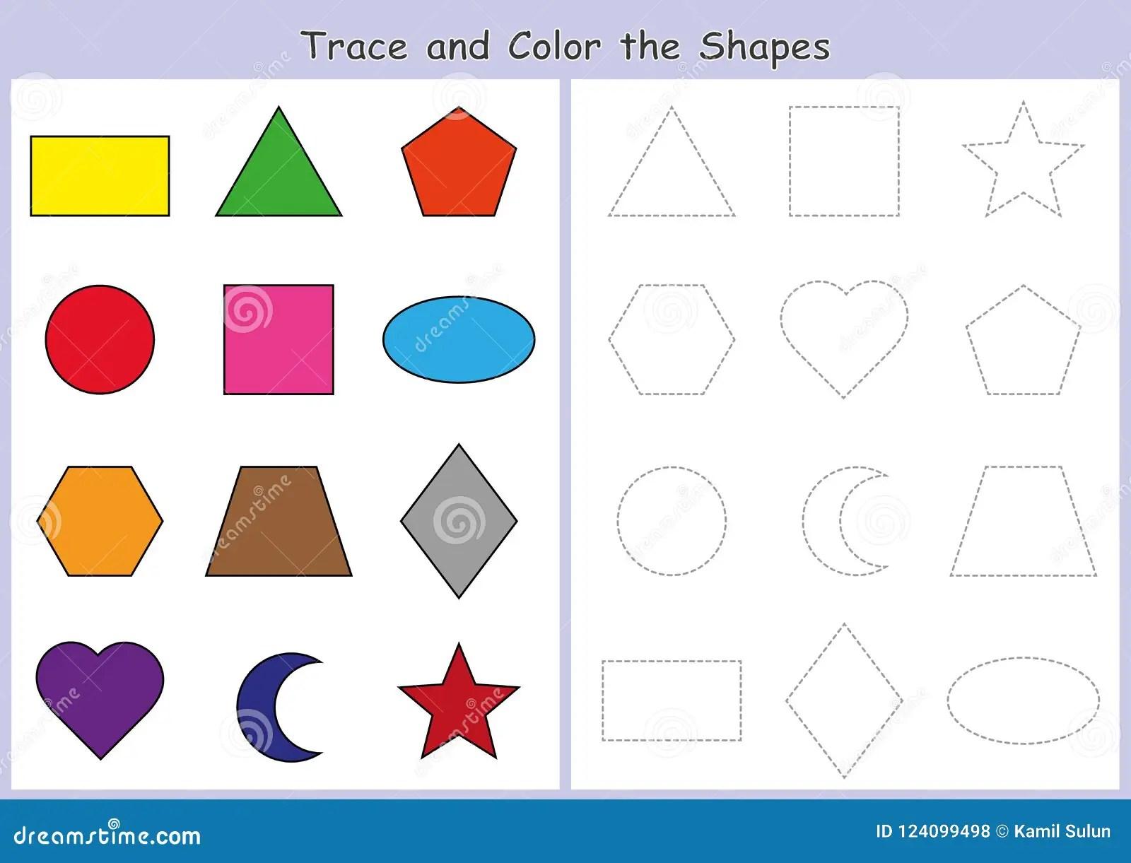 Vindend En Kleur De Geometrische Vormen Aantekenvel Voor