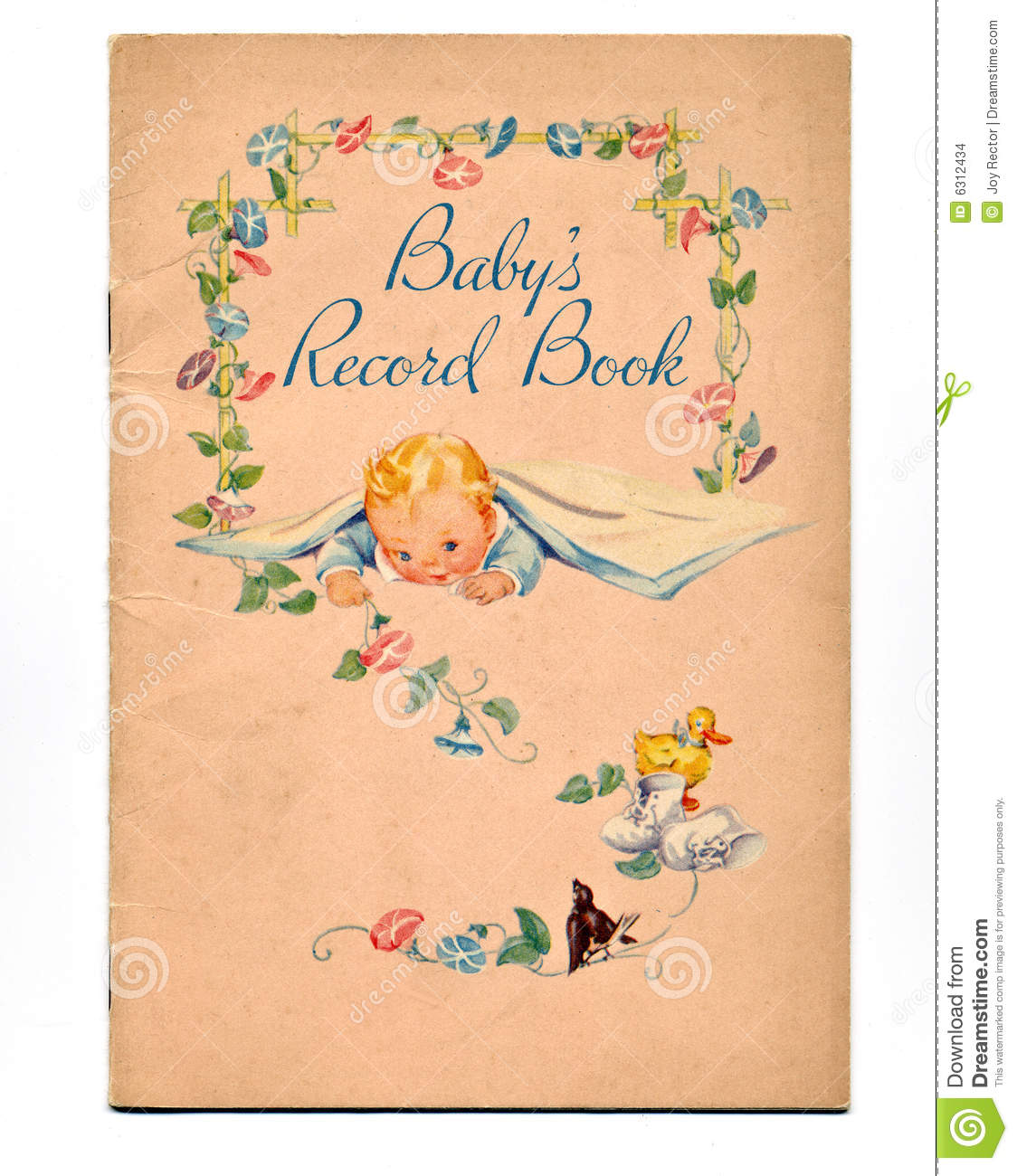 Vintage Baby Book Stock Images Image 6312434