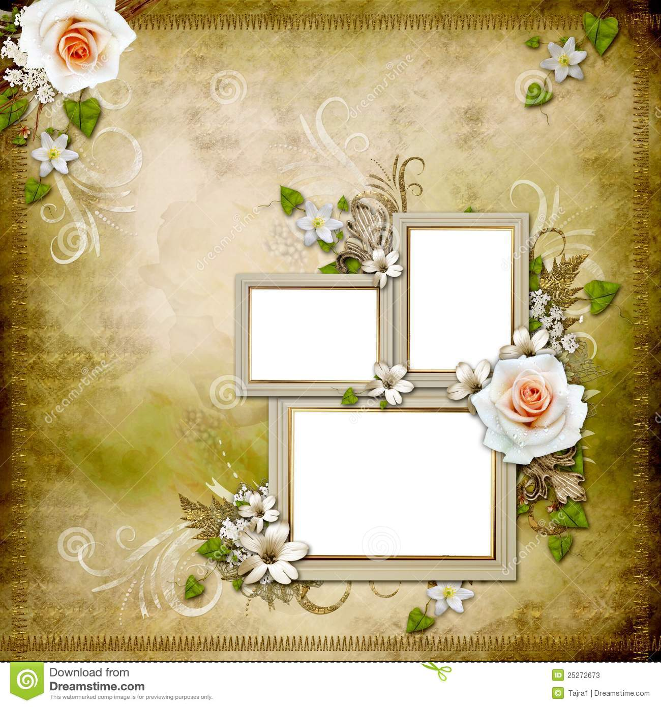 Frames And Butterfly Flower Border
