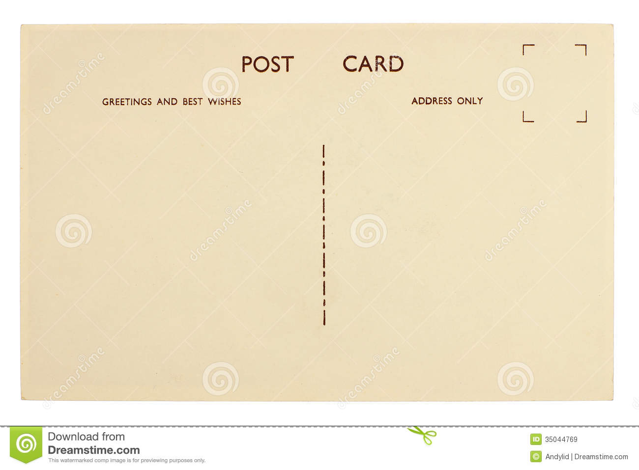 Blank Postcard Stock Image Image Of Aged Faded Postage