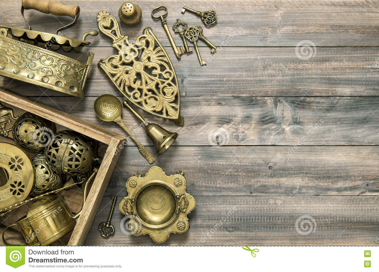 Brass Utensils Royalty Free Stock Photography