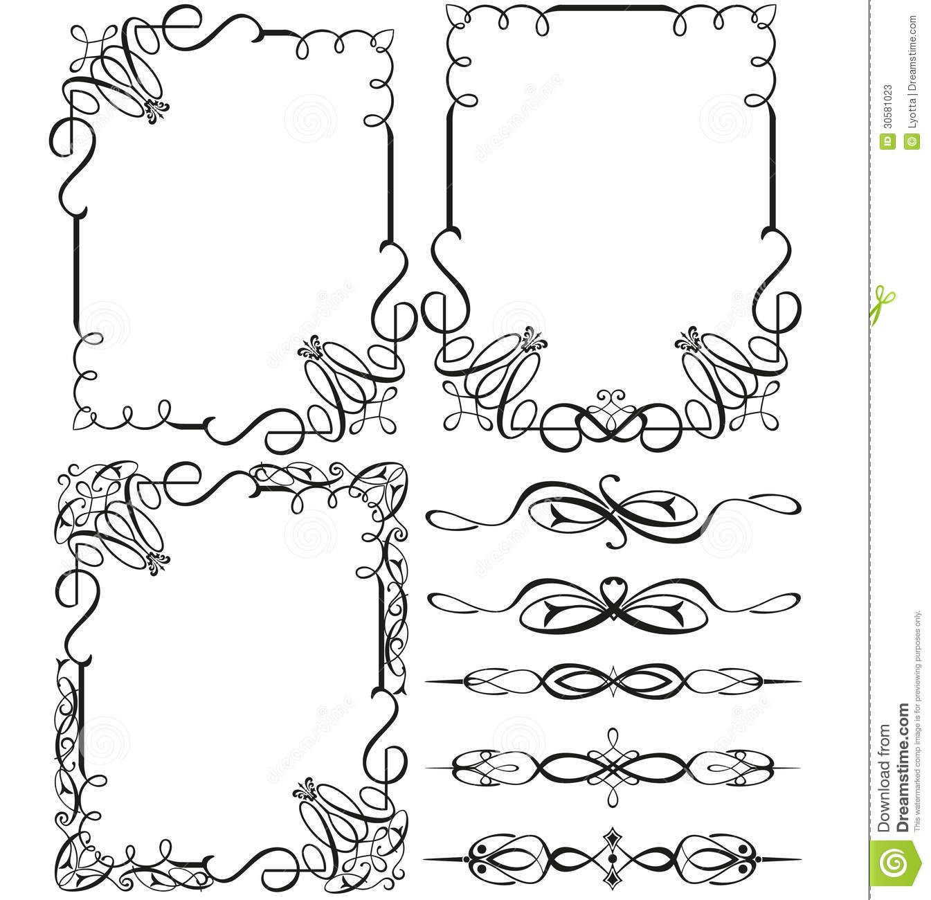 Vintage Calligraphic Frames And Elements Stock Vector