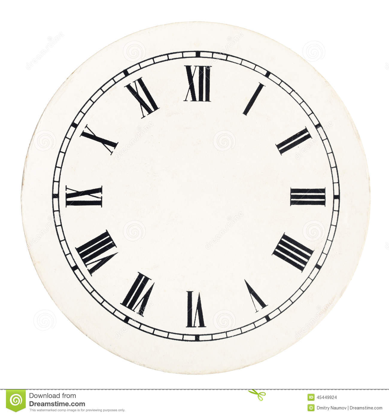Vintage Clock Dial Template Stock Photo
