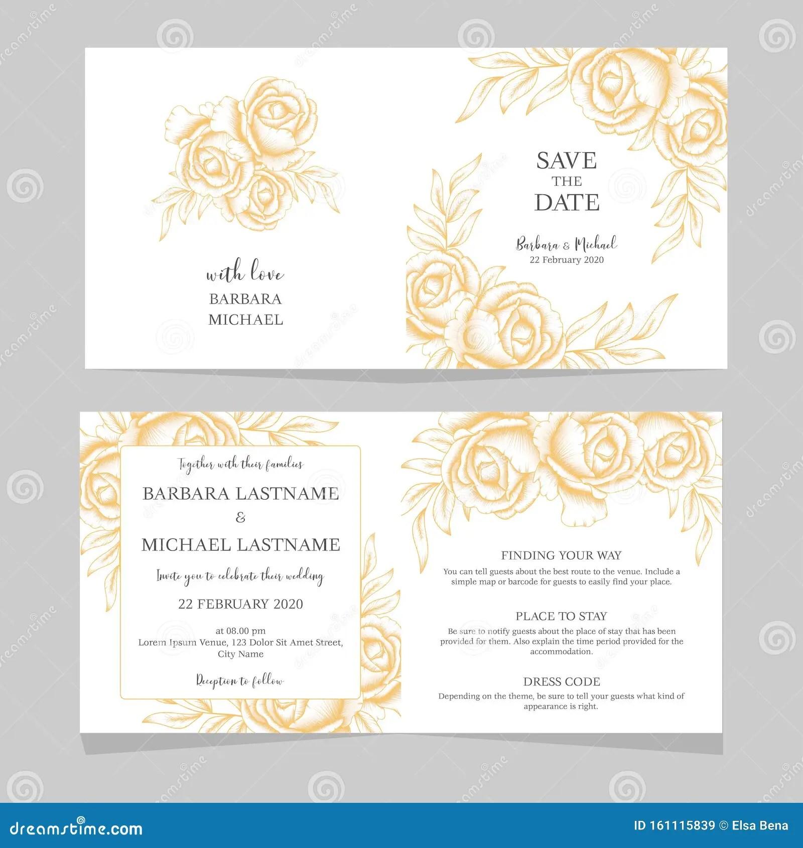 https www dreamstime com vintage floral wedding invitation card template golden rose vintage floral wedding invitation card template gold rose image161115839