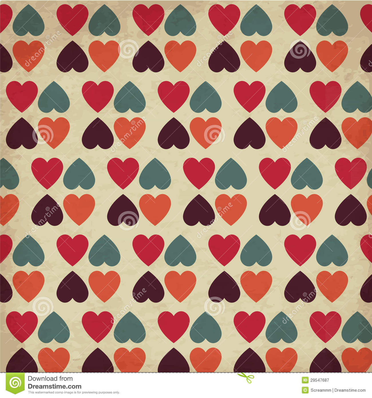 Vintage Hearts Stock Image Image Of Design Repeat