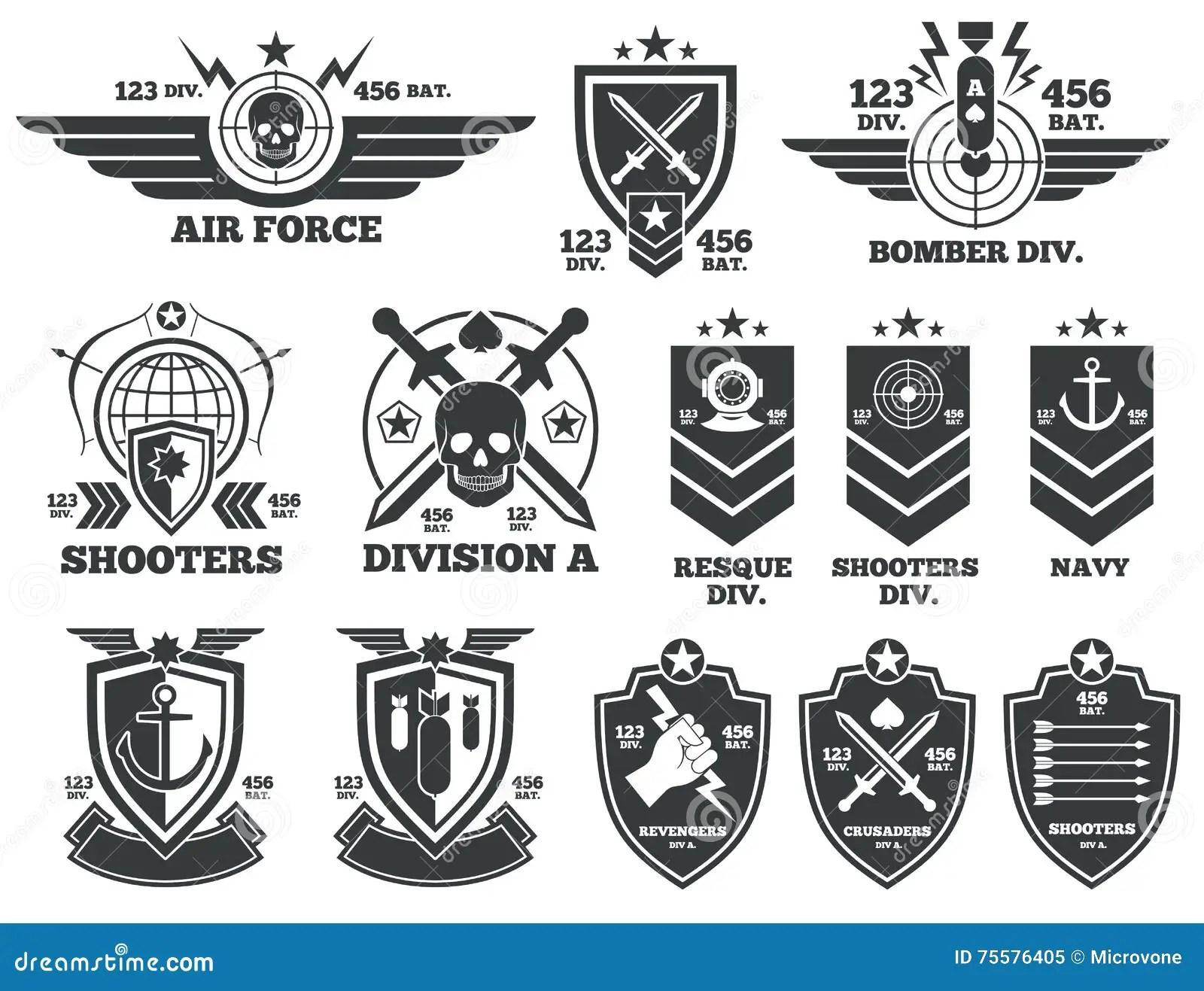 Vector Set Of Military Rehabilitation Icons Health Mind