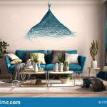 Vintage Old Style Blue Living Room With Sofa And Armchair Coffee Table With Decors And Plants Carpet Window With Curtains Stock Illustration Illustration Of Antique Armchair 172795571