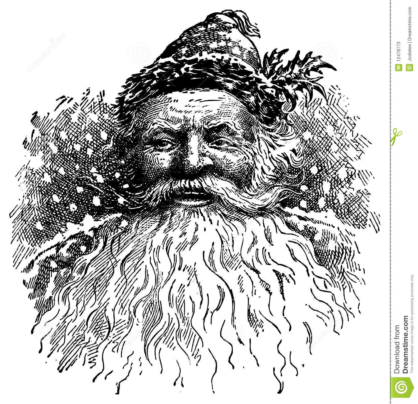 Vintage Santa Illustration Stock Illustration