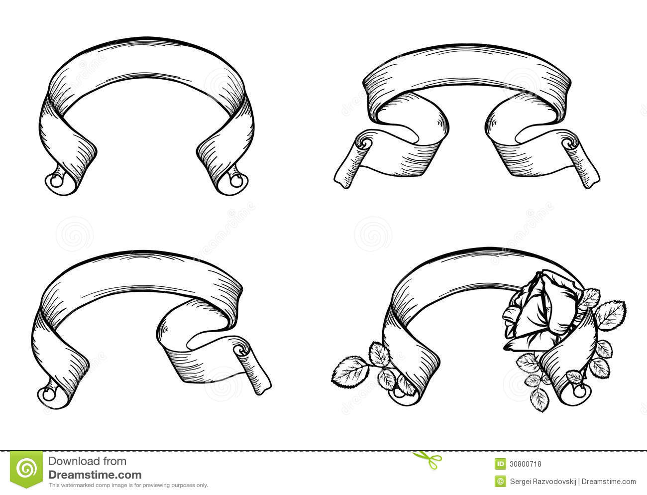 Vintage Scroll Ribbons Stock Vector Illustration Of