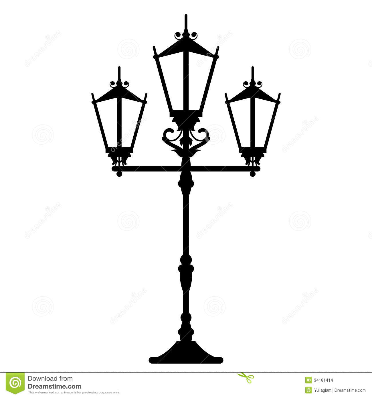 Vintage Streetlight Stock Vector Illustration Of