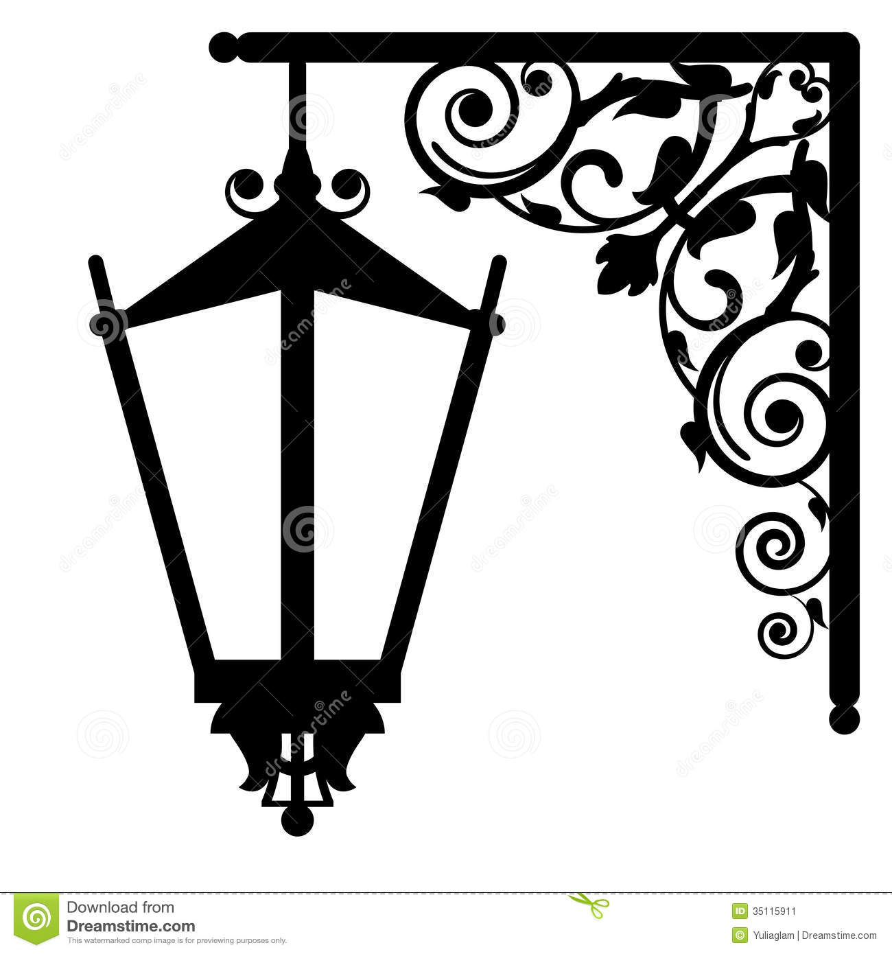 Vintage Streetlight Stock Vector Illustration Of Clipart