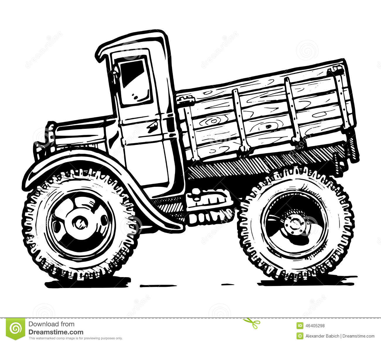 Vintage Truck Stock Vector Image Of Colour Background