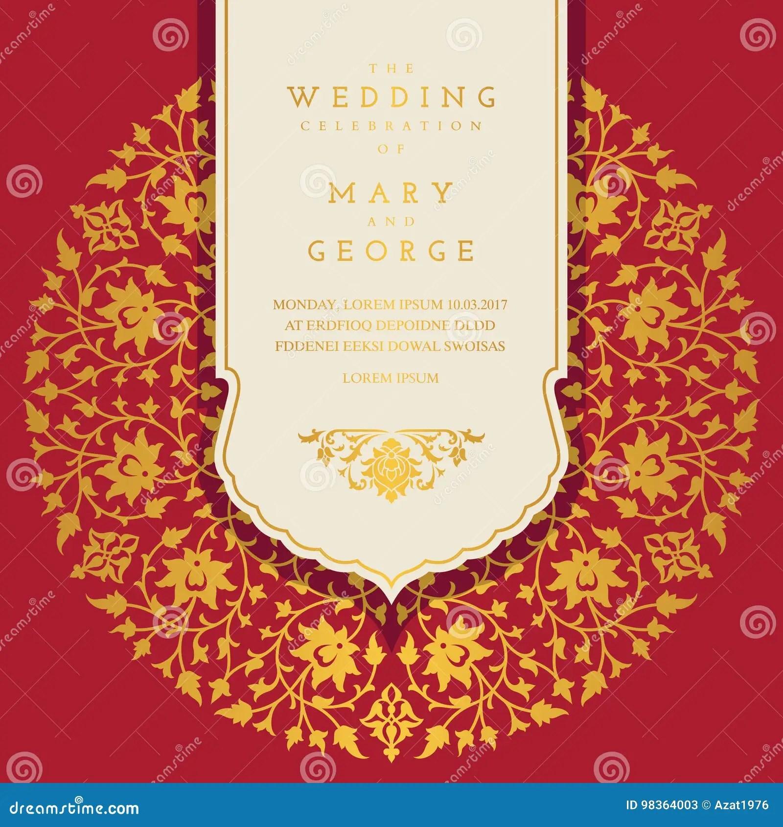 https www dreamstime com stock illustration vintage wedding invitation card template floral background image98364003