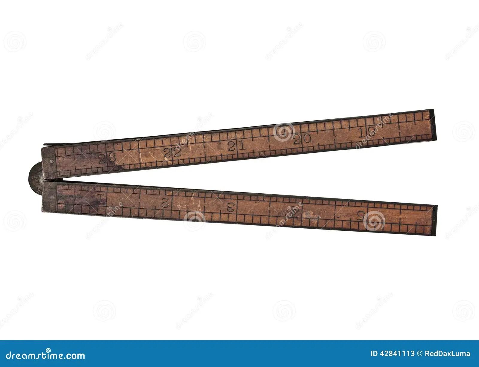 Vintage Wooden Ruler Stock Image Image Of Single Length 42841113