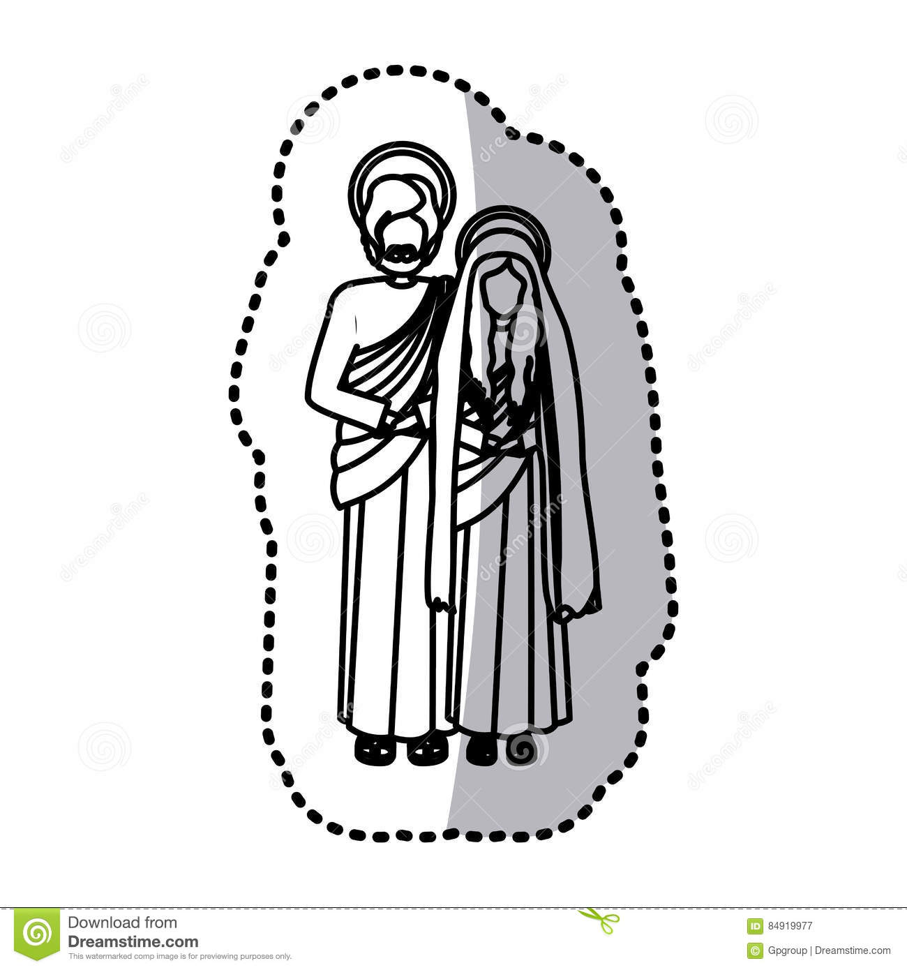 Virgin Mary And Joseph Stock Vector Image Of Christianity
