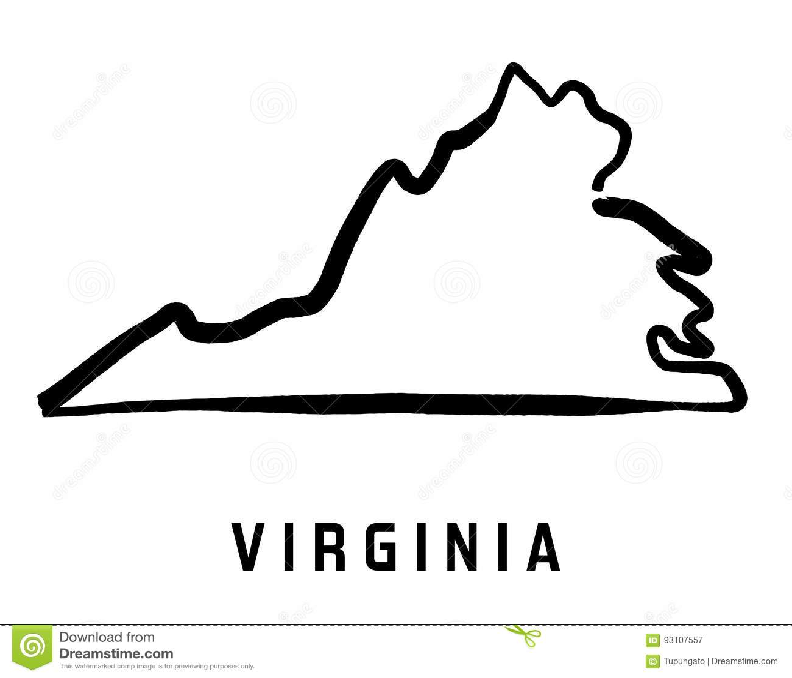 Virginia Stock Vector Illustration Of Border Place