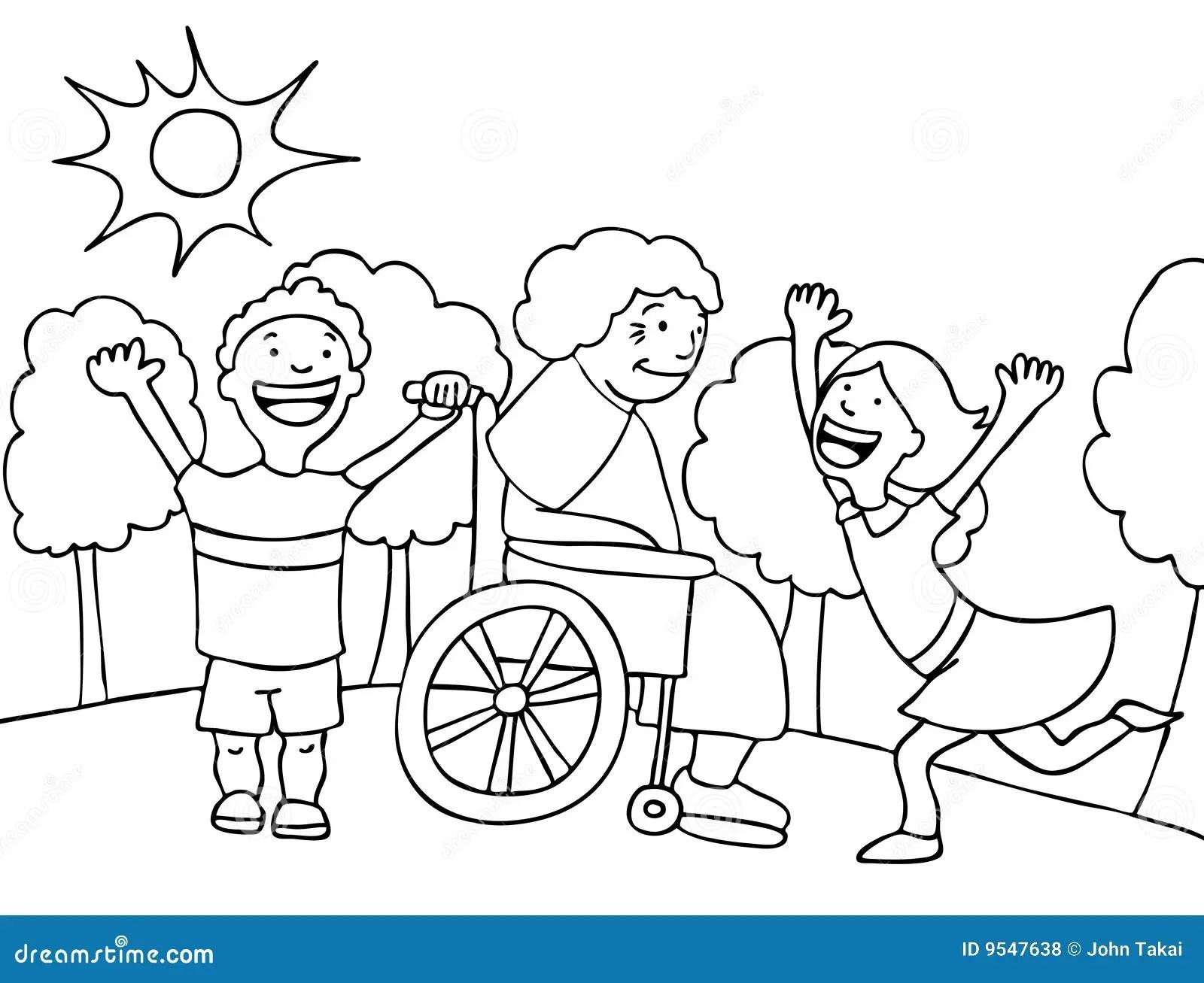 Visit With Grandma Stock Vector Illustration Of Senior