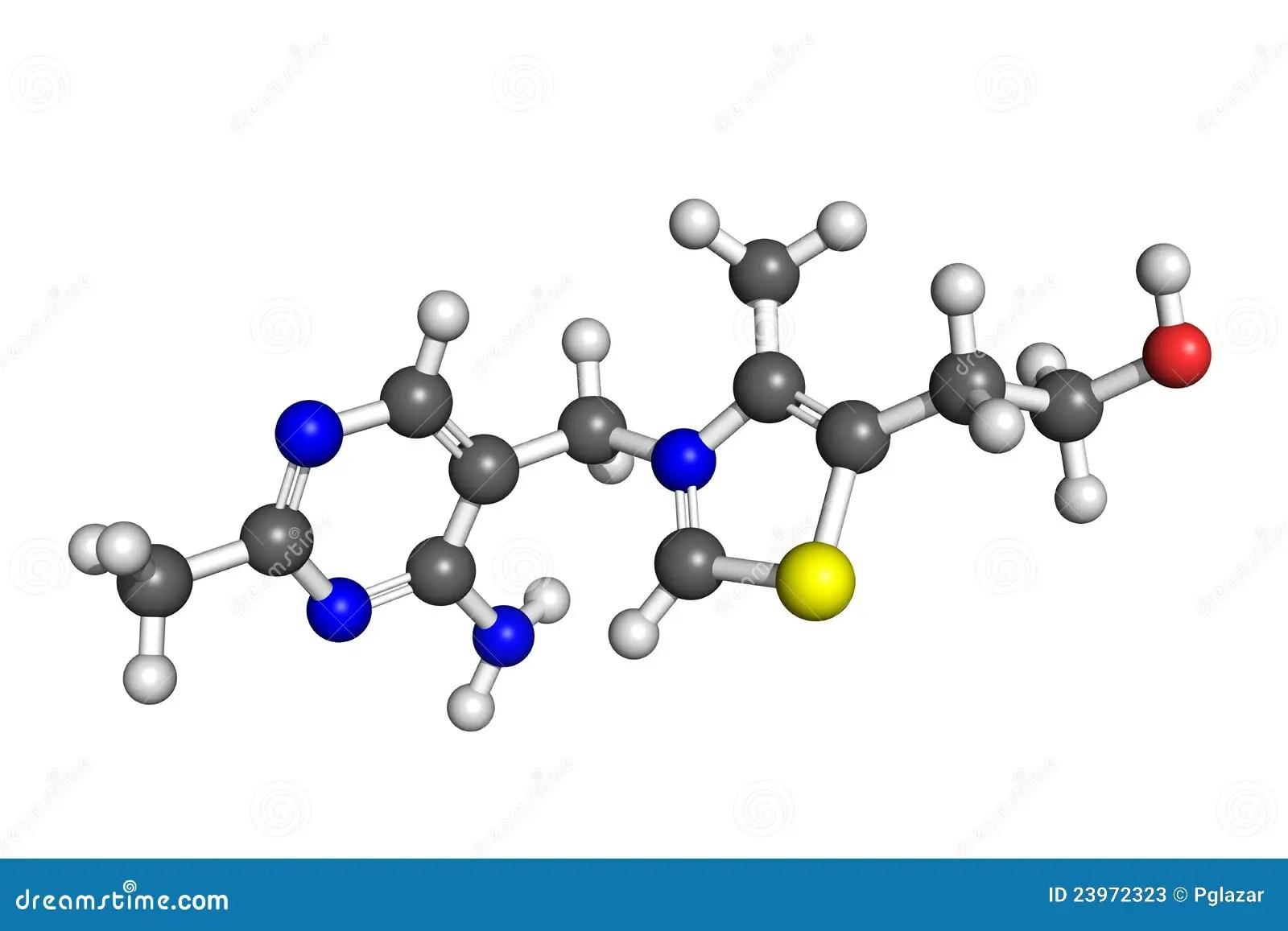 Vitamin B1 Structure Stock Photos
