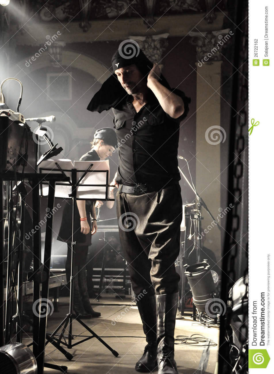 Vocalist Milan Fras From Laibach Band Editorial