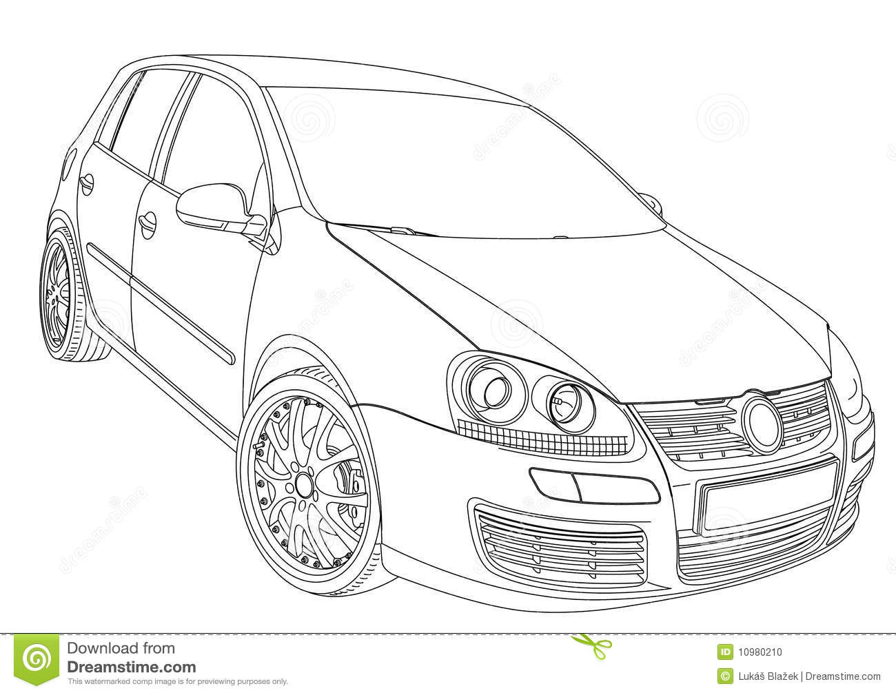 Volkswagen Golf 5 Stock Vector Illustration Of Limusine