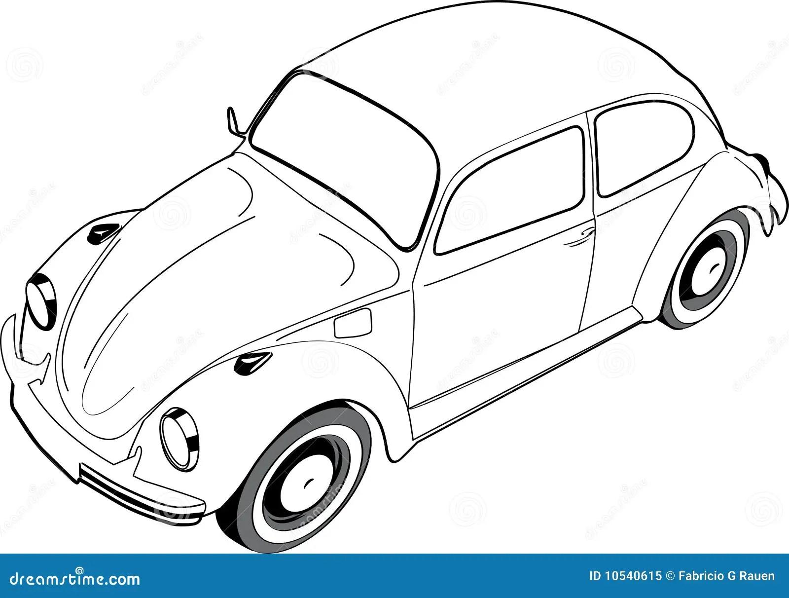 Volkswagon Beetle Or Bug Stock Vector Illustration Of