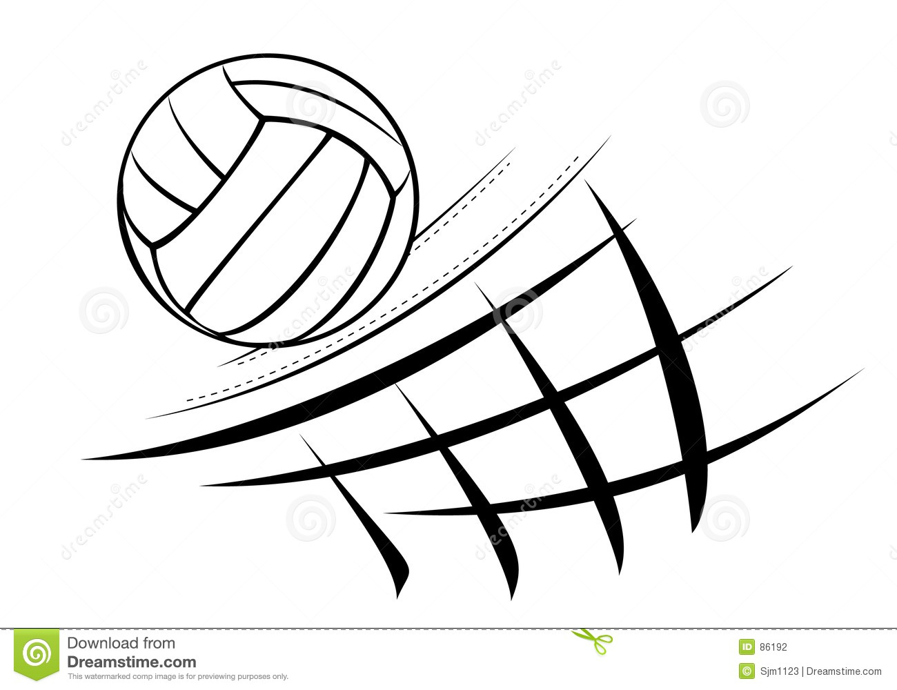 Volleyball Illustration Stock Photography