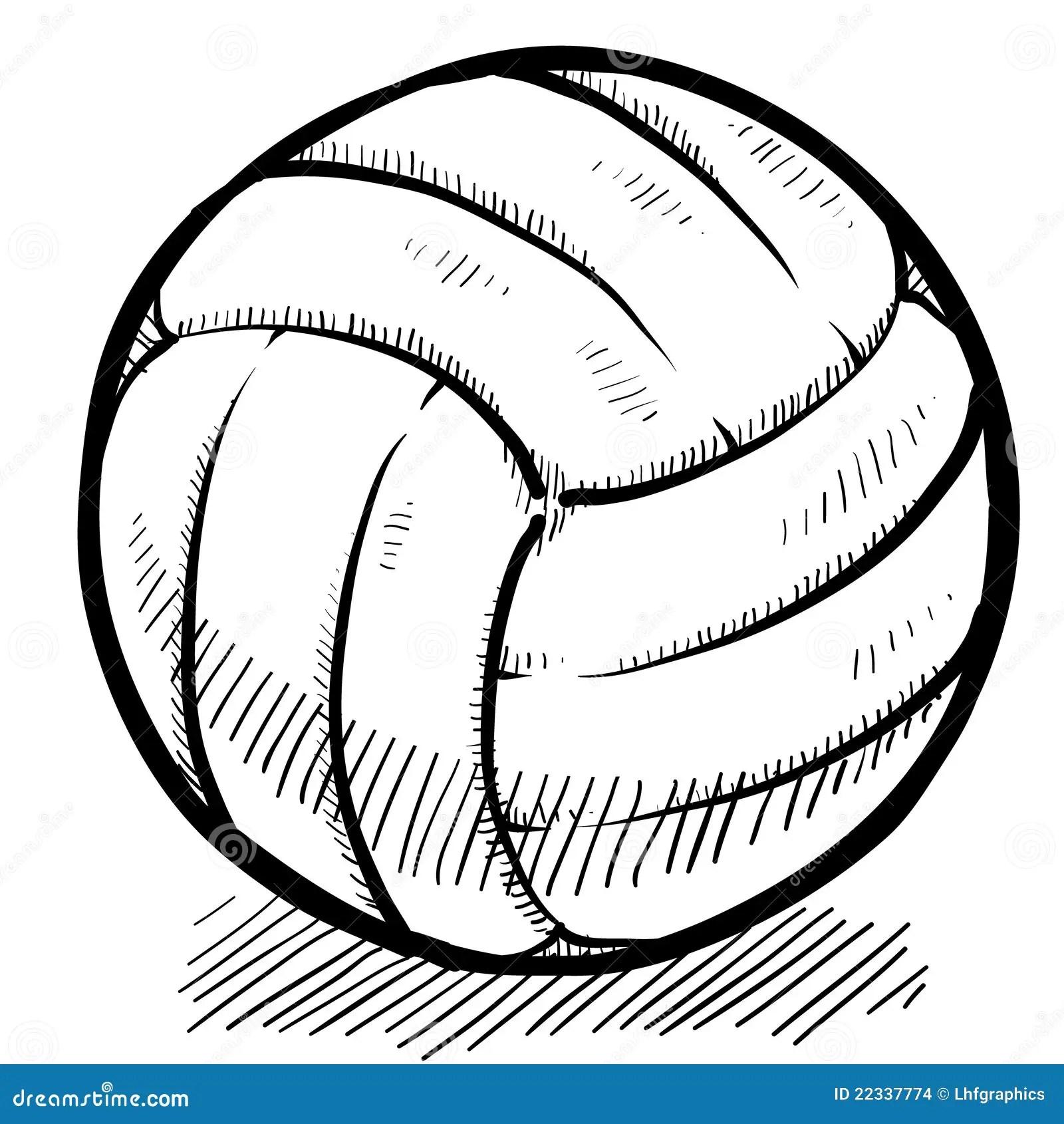Volleyball Sketch Stock Vector Illustration Of Varsity