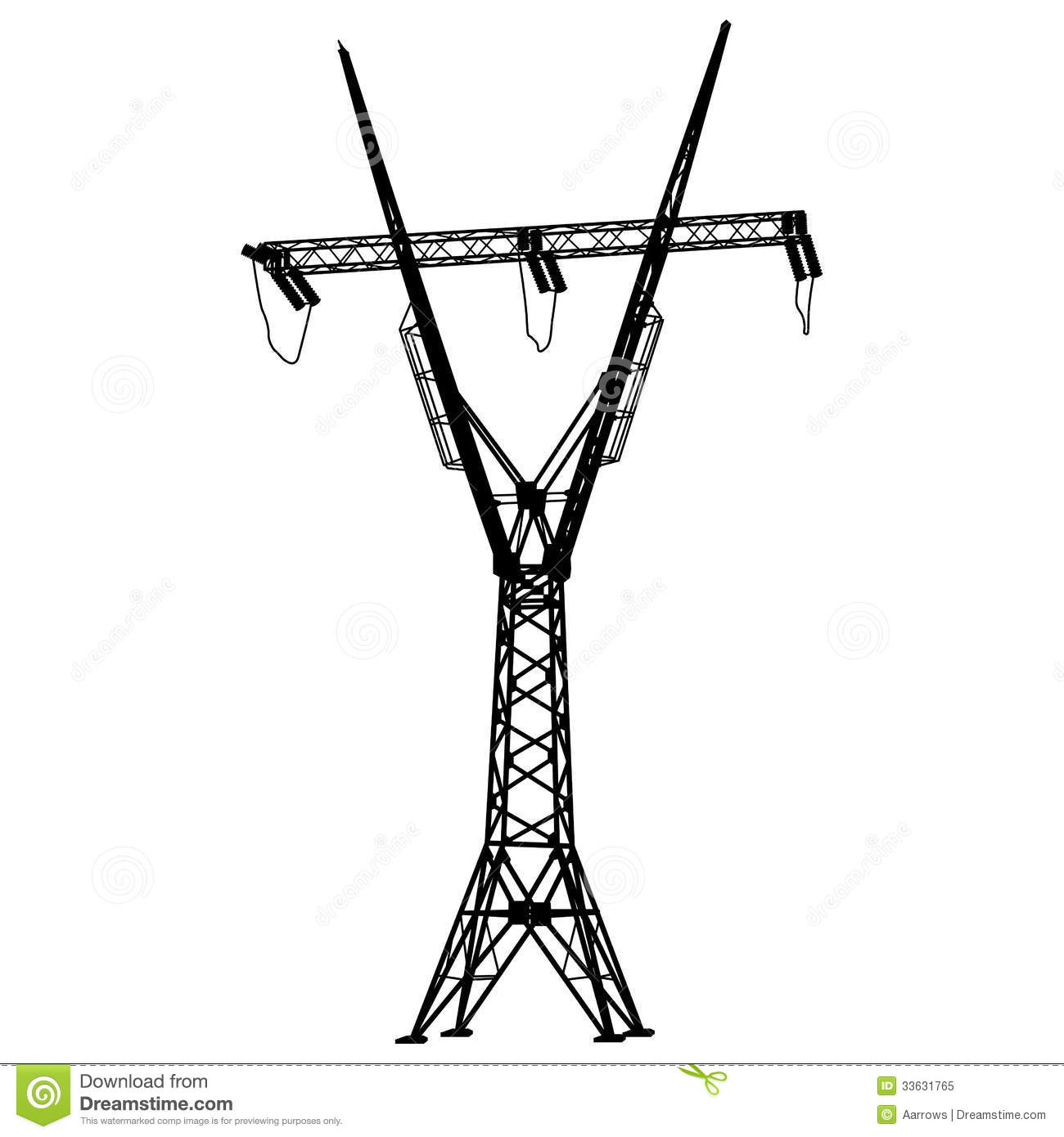 Voltage Power Lines Stock Vector Illustration Of