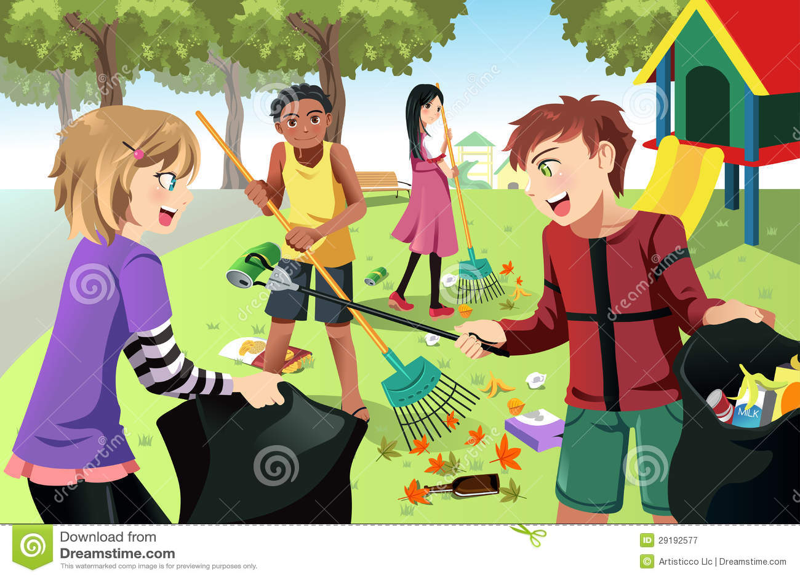 Volunteer Kids Royalty Free Stock Photography