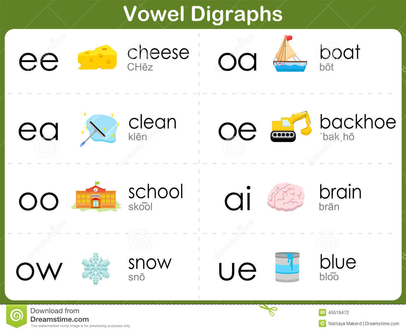 Printables Vowel Digraph Worksheets Messygracebook