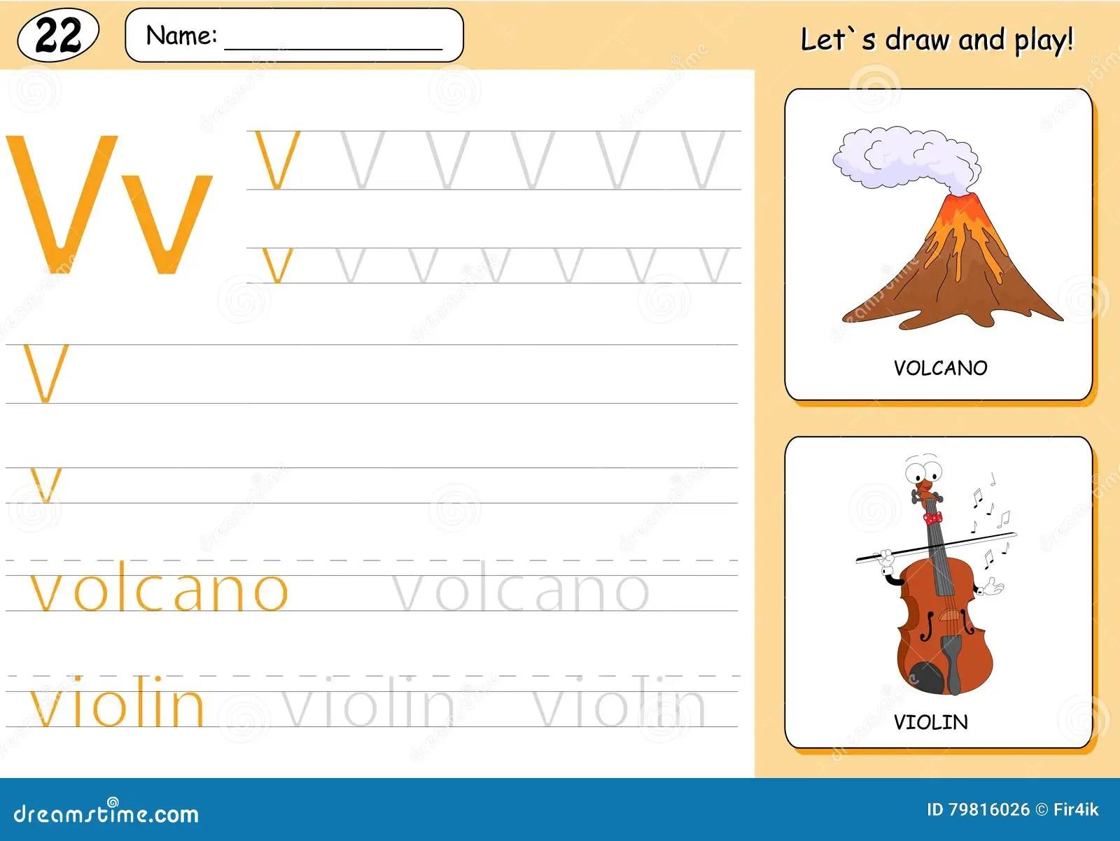 Vulcano E Violino Del Fumetto Foglio Di Lavoro Di