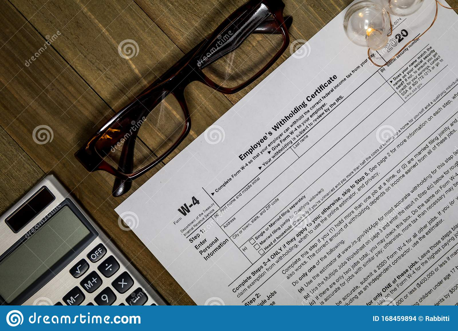 W4 Tax Form For