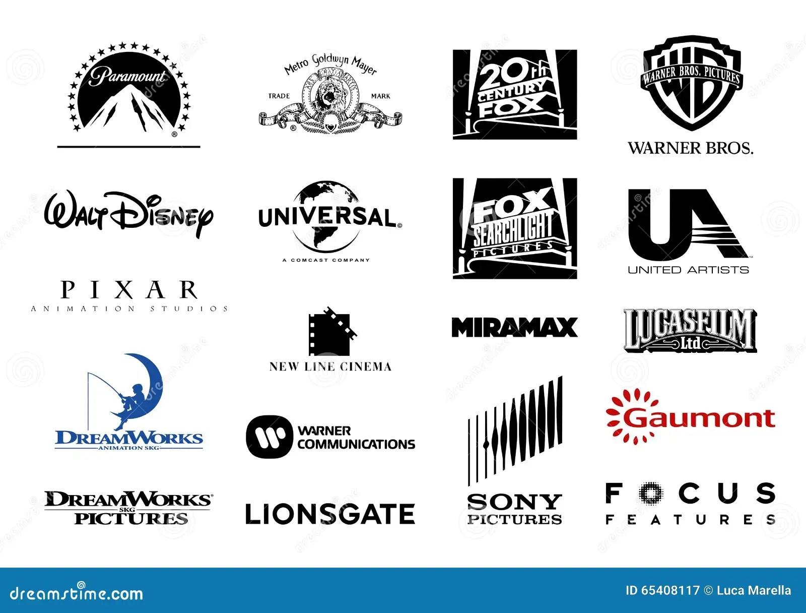 Wa Ni Studio Filmowe Wektoru Logowie Fotografia Editorial