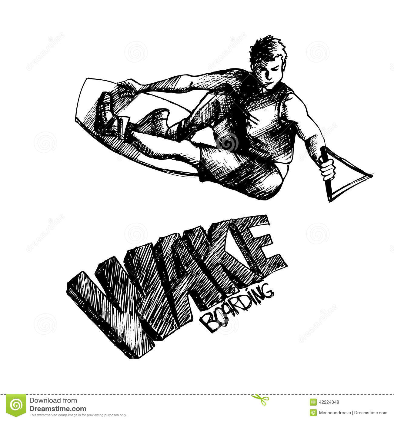 Wakeboarder 1 Stock Vector Image Of Life Silhouette