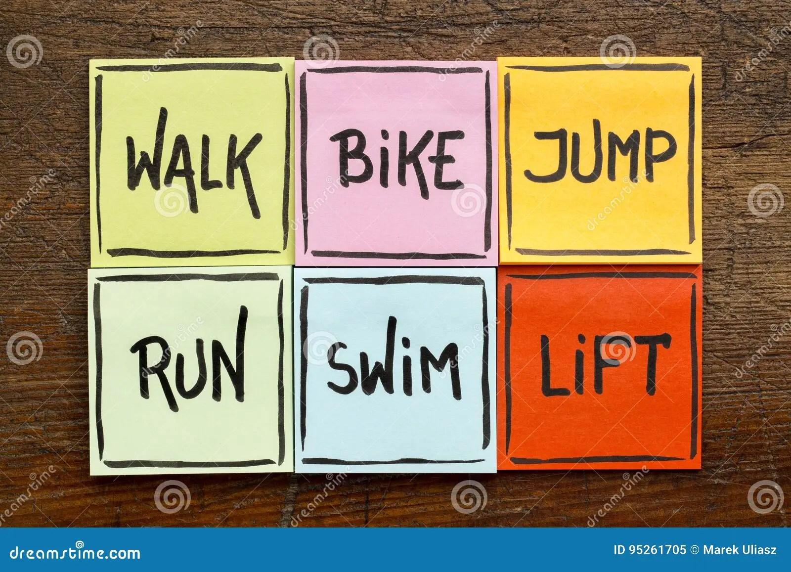 Walk Bike Jump Run Swim Life
