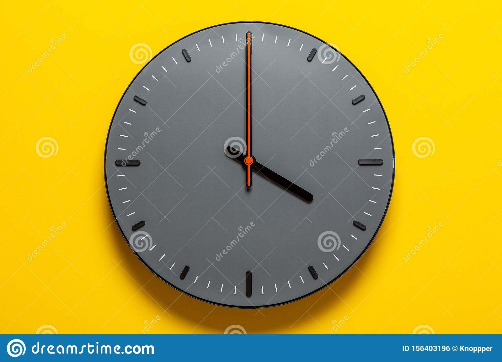 Dial Without Numbers Wall Clock Stock Photo