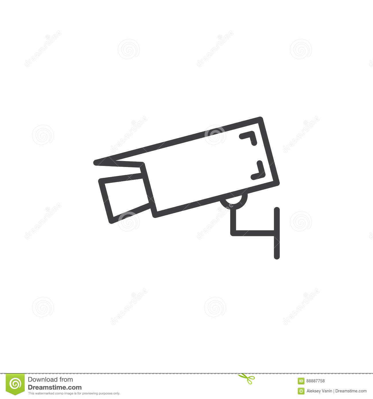Wall Mount Camera Line Icon Outline Vector Sign Vector
