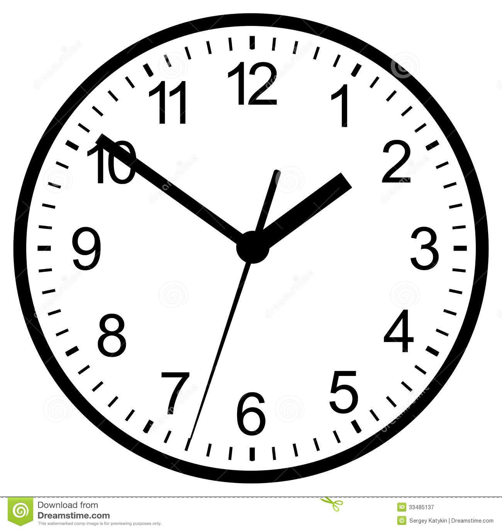 Wall Mounted Digital Clock Royalty Free Stock Photography