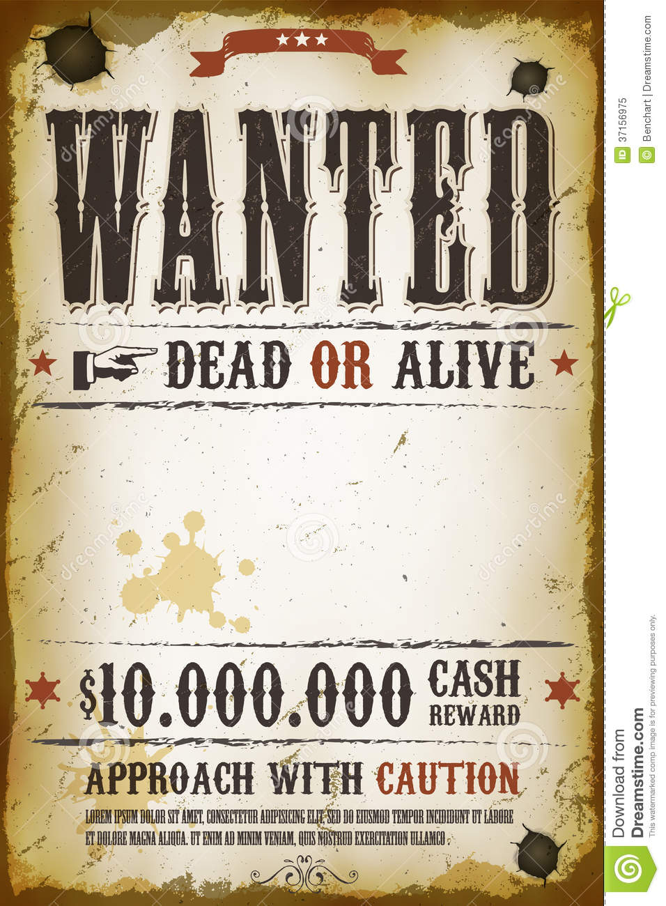 Wanted Poster Template Psd poster templates poster and templates – Printable Wanted Poster Template