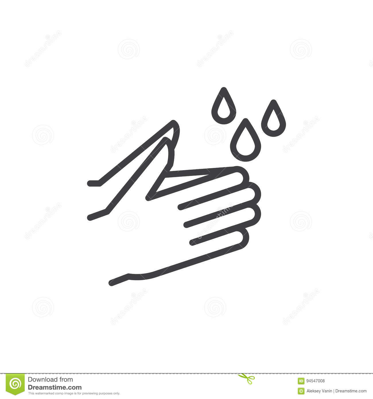 Wash Hands Line Icon Outline Vector Sign Linear Style