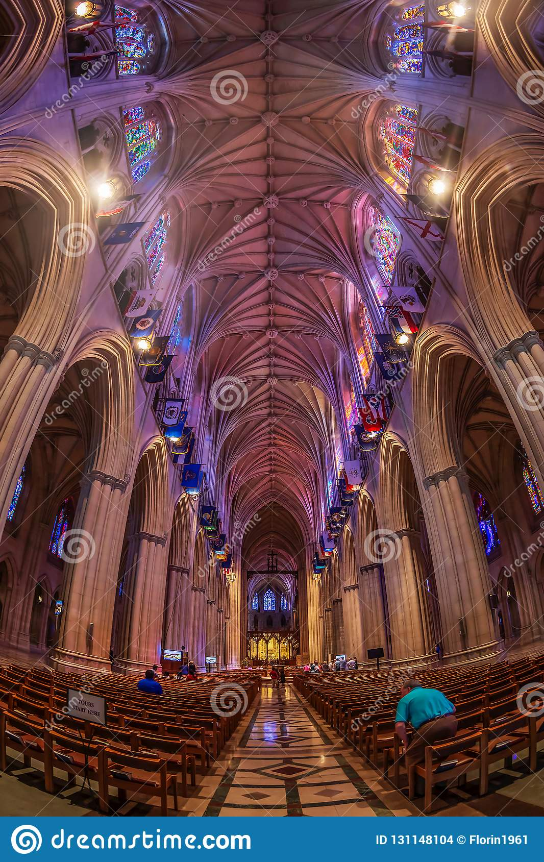 Interior Of The National Cathedral In Washington Dc Usa