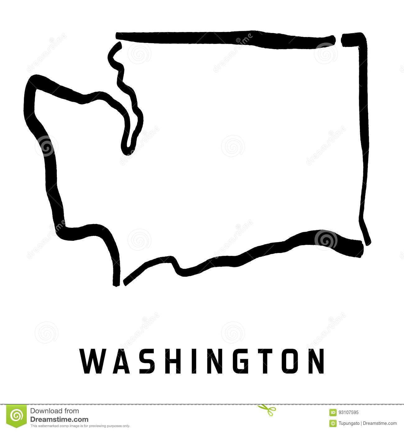 Washington Stock Vector Illustration Of Concept Drawing