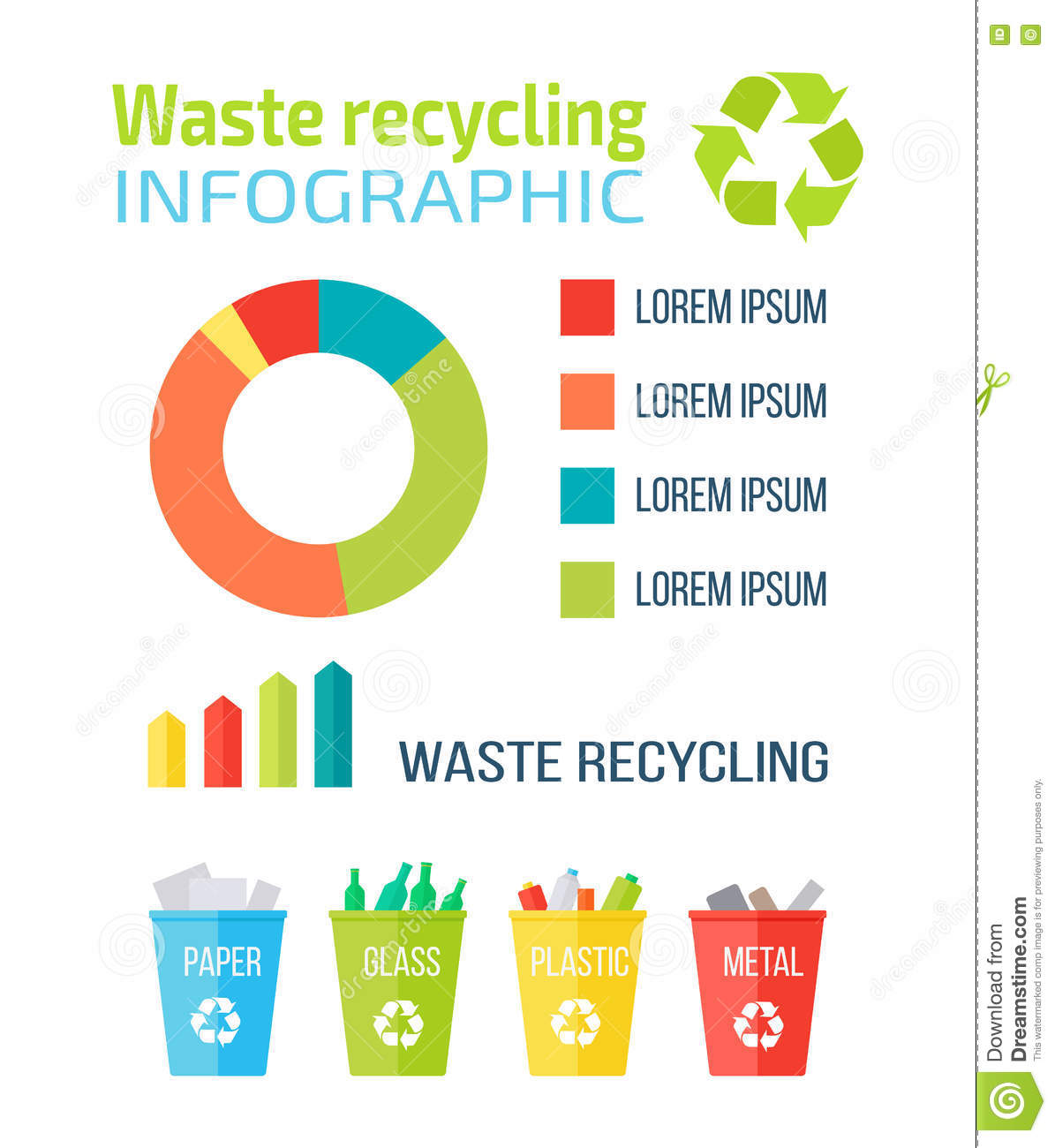 Waste Recycling Infographic Stock Vector