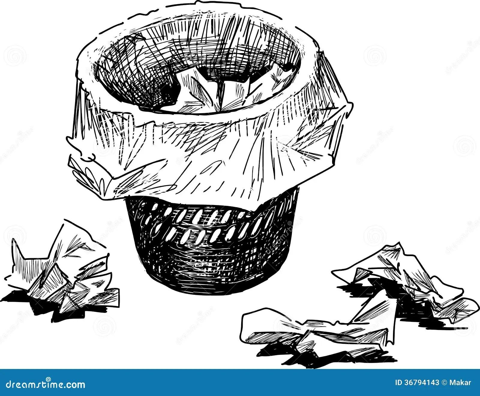 Wastebasket Stock Vector Illustration Of Waste Garbage