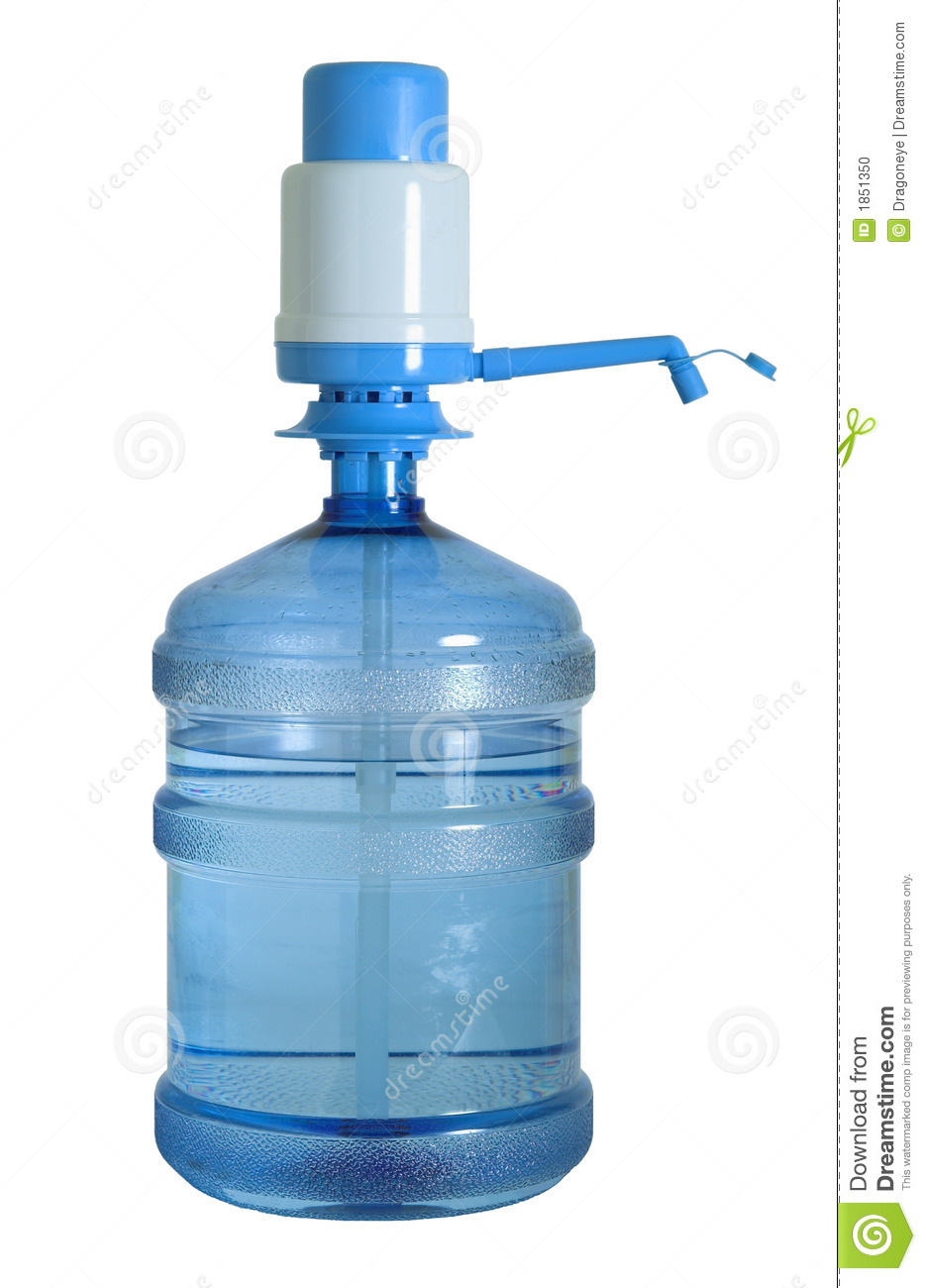 Water Can With Pump Cutout Stock Photo Image Of Clear 1851350