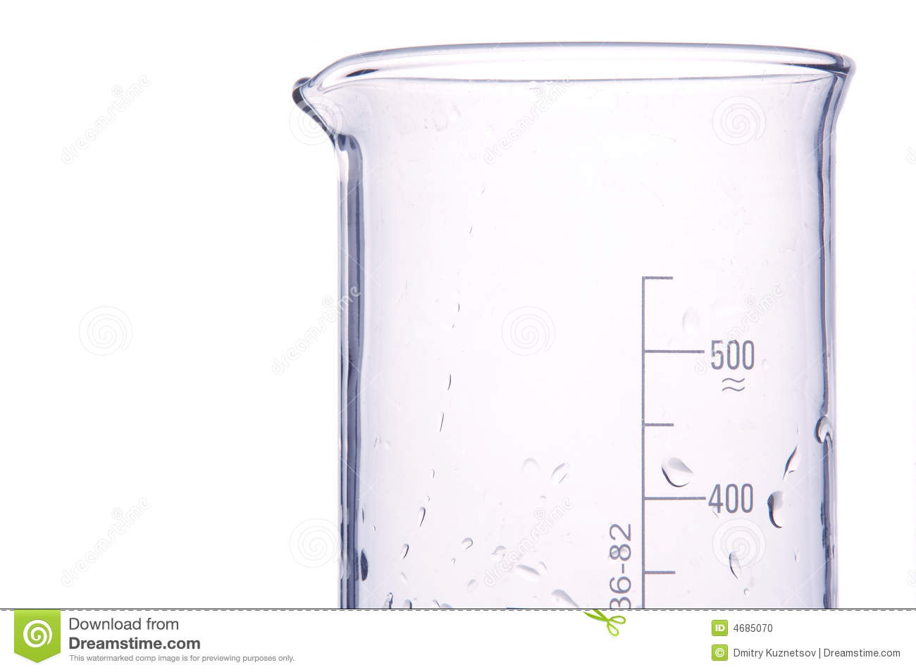 Water In A Chemical Measure Glass Stock Photo