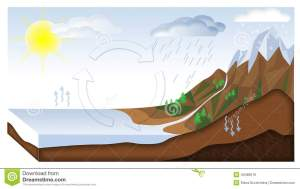 Water cycle stock illustration Image of geography