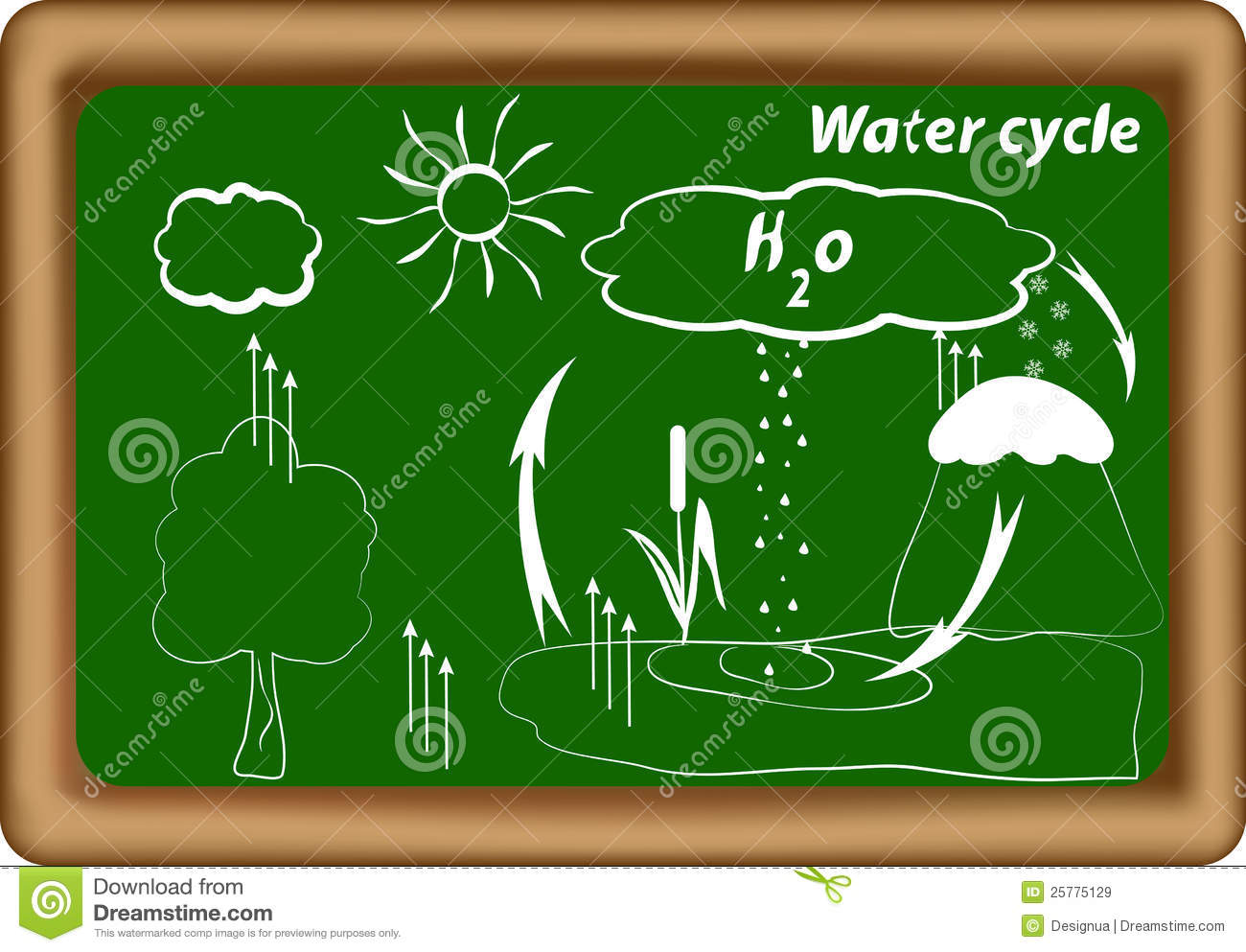 Water Cycle Hydrological Cycle H2o Cycle Royalty Free Stock Images
