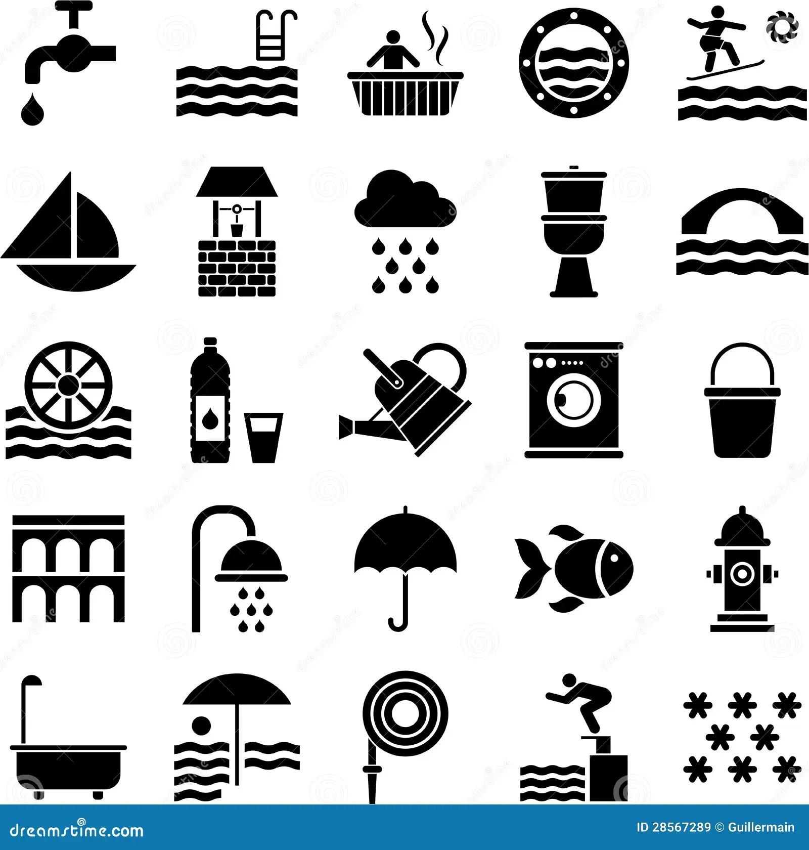 Water Icons Stock Vector Illustration Of Hose Aquarium