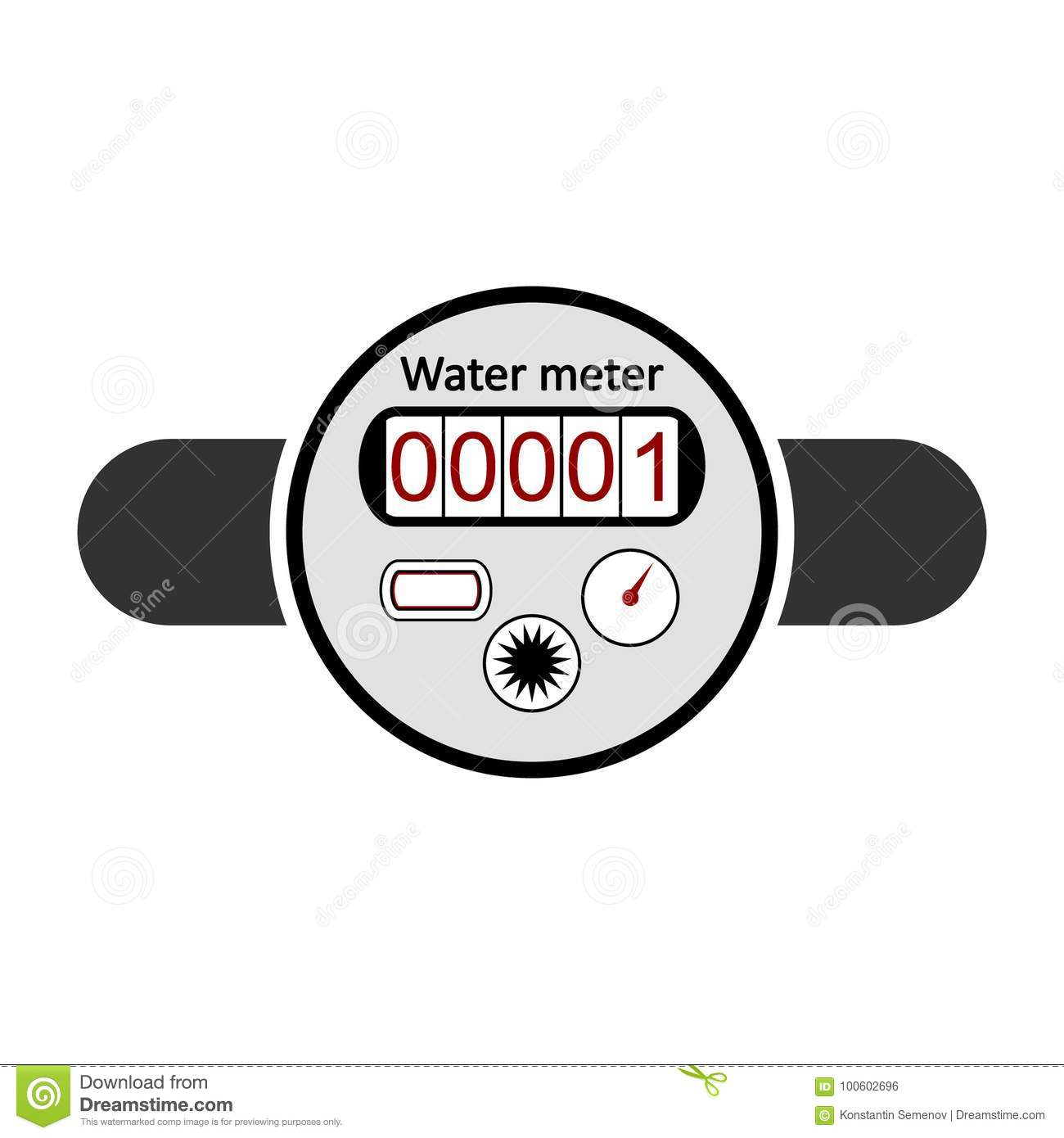 Water Meter Icon Stock Illustration Illustration Of